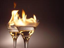 Brandende cocktail